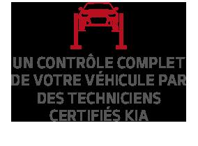 Un contrôle complet de votre véhicule par des techniciens certifiés Kia